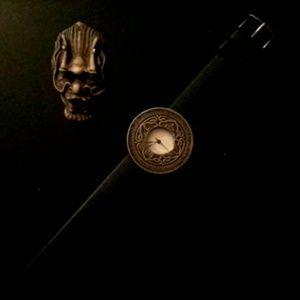 Hand made custom mandala moon watch